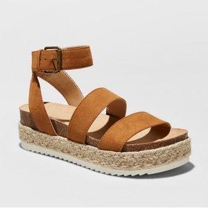 Tan Platform Espadrille Sandals